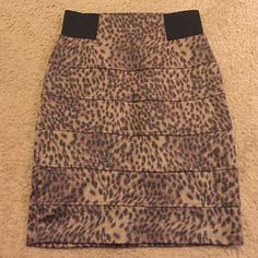 Cheetah print skirt This skirt has only been worn once and is in brand new condition! It has a black elastic band and is really comfortable and you're able to move freely in it. Forever 21 Skirts Mini