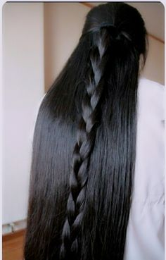 A tape-in establishment will last you somewhere in the range of 4 to about a month and a half, or until your normal hair becomes out. Long Hair Ponytail, Bun Hairstyles For Long Hair, Braids For Long Hair, Straight Hairstyles, Braided Hairstyles, Black Hairstyles, Really Long Hair, Super Long Hair, Long Black Hair