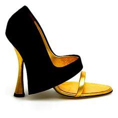 Sniff Spike Studded Heel Platform Dress Pump w/ Ankle Strap Women... ❤ liked on Polyvore