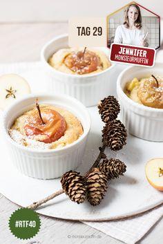 Das leckerste Rezept für kleine, süsse Mini-Bratapfelkuchen. Ein leckerer Schmaus für deine Adventskaffeetafel. Rezept hier lesen...