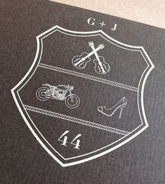 From digital to print-custom crest I created for our wedding invitations