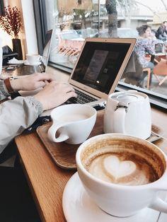 Imagem de coffee, study, and cafe