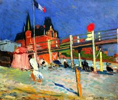 The Beach at Havre Raoul Dufy - 1906