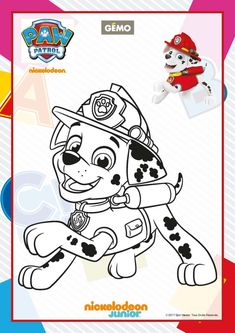 Paw Patrol Coloring Pages - Marshall Dalmatians -