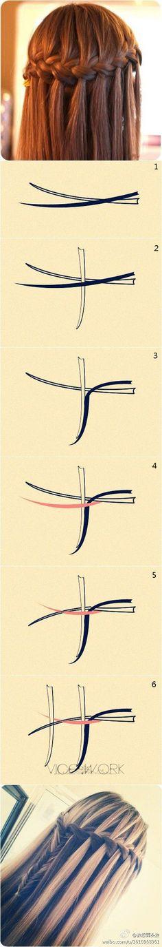 Tutorial trenza cascada  DIYrosa.com Facebook: fb.com/DIYrosa Twitter: @DIYrosa