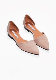 & Other Stories | Pointy Suede D'Orsay Flats