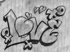 Love is a 4 letter word. Graffiti Art, Wie Zeichnet Man Graffiti, Love Graffiti, Graffiti Words, Graffiti Doodles, Graffiti Lettering Fonts, Graffiti Drawing, Graffiti Alphabet, Cool Art Drawings