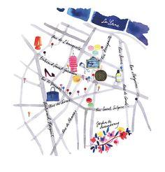 Saint Germain map for Vogue Brasil | por miss Capricho