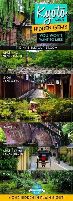 Stunning Kyoto Hidden Gems You Won't Want To Miss – – Best in Travel – The best places to visit in 2020 Go To Japan, Visit Japan, Japan Trip, Okinawa Japan, Osaka Japan, Hawaii Travel, Asia Travel, Traveling Europe, Tokyo Travel
