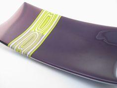 Fused Glass Pattern Bar Plate Purple by Glass Art By Margot, via Flickr