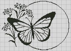Gallery.ru / Фото #100 - Монохром - elena-555, Butterfly, Flowers
