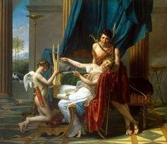 Jacques-Louis David, Saffo e Faone, 1809, olio su tela, 2,25 m x 2,62 m, Museo dell'Ermitage di San Pietroburgo.