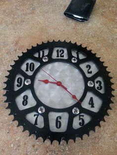 Used dirtbike sproket clock I made for garage