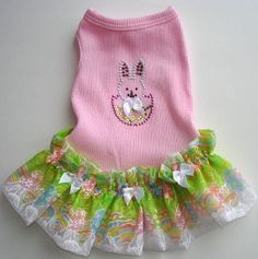 Hey, I found this really awesome Etsy listing at https://www.etsy.com/listing/43136411/dog-dress-bunny-tank-dog-dress-with-a