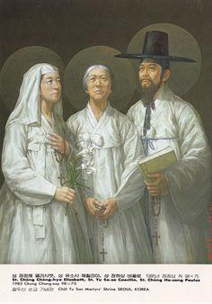 martyrs korea | Korean martyrs 8 Sts__Chong_Chong-hye_Elisabeth,_Yu_So-sa_Caecilia ...