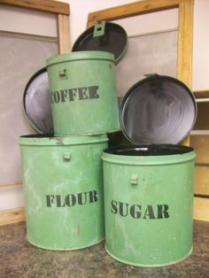 Vintage Canisters $12.00