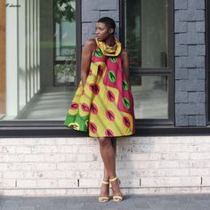 Collection of the most beautiful short ankara gown styles of Stylish and attractive short gown 2018 are designed to show your youth, beauty, and slenderness African Print Fashion, African Fashion Dresses, African Attire, African Wear, African Dress, African Outfits, Ankara Fashion, Ankara Short Gown Styles, Short Gowns