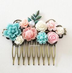 Romantic Wedding Hair Slide Customised Hair Comb for by Jewelsalem