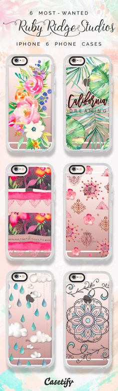All time favourite iPhone 6 protective phone case designs by Ruby Ridge Studio | Click through to see more iphone phone case ideas >>> https://www.casetify.com/RubyRidgeStudios/collection | @casetify