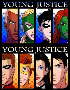 Nightwing and Young Justice Watch Justice League, Young Justice League, Kid Flash, Dc Memes, Movie Memes, Dc Comics Characters, Teen Titans Go, Cartoon Shows, Nightwing