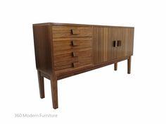 Mid Century Sideboard Credenza Cabinet Buffet Vintage Retro slim   360 Modern Furniture