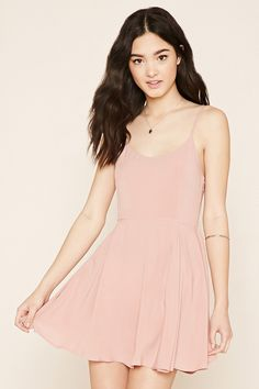 Lace-Up Babydoll Dress | Forever 21 - in black size XS