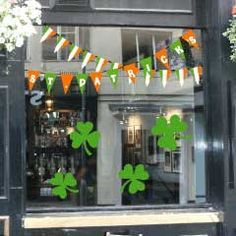 Saint Patrick's Window Display