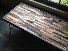 Barnwood Coffee Table - Industrial Furniture - Modern Reclaimed Upcycled Rustic Wood with Vintage Steel Iron Hairpin Legs - OOAK. $425.00, via Etsy.