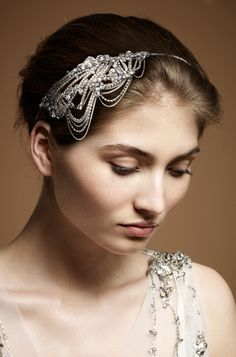 Jenny Packham 2012 Accessories Collection Onda Vintage Style Bridal Headdress II
