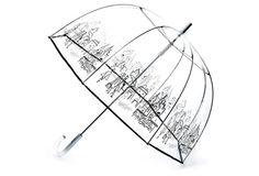 City Life Bubble Umbrella, Clear/Black