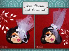 Broches de novia. #felt #wedding #novia #broche #brooch