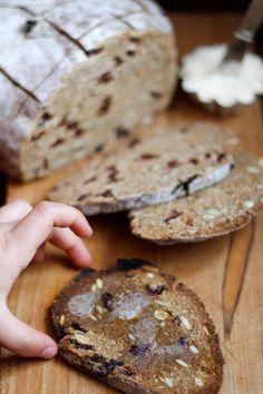 Recipe: Rye Toasting Bread with Dried Cherries & Pumpkin Seeds