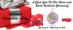 I Love You To The Moon and Back Necklace Giveaway Ends 2/14 @atouchofdazzle