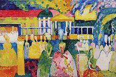 Crinolines by Wassily Kandinsky Canvas Print #11386