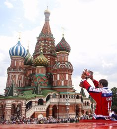 Ovechkin during the parade for the Russian team winning the 2014 World Championships 5/27/14