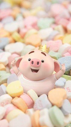 Pig Wallpaper, Cute Girl Wallpaper, Cute Disney Wallpaper, Cute Cartoon Wallpapers, Iphone Wallpaper, Cute Bunny Cartoon, Cute Couple Cartoon, This Little Piggy, Little Pigs
