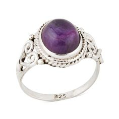 Sterling Silver Amethyst Spellbound Ring ($37) ❤ liked on Polyvore featuring jewelry, rings, amethyst jewelry, sterling silver jewelry, sterling silver rings, sterling silver jewellery and sterling silver amethyst ring