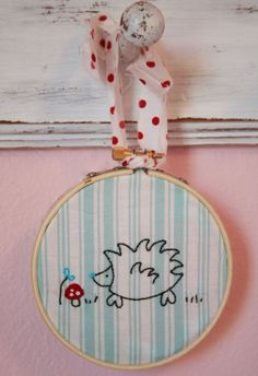 Hedgehog Embroidery PATTERN by alittlesweetness on Etsy, $5.00