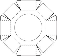 Octagon-Box: Vorlage für die untere Hälfte - gefunden auf gdpackaging.wordpress.com