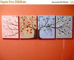 landscape tree of life painting canvas triptych #art #painting @EtsyMktgTool http://etsy.me/2xA9msr