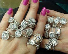 Love the vintage style!!! Sasha Primak diamond engagement rings.