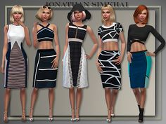 J.S. 5 whole casual outfits by Judie at All About Style • Sims 4 Updates