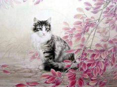 14-chats en peinture serie A ( X.C)