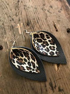 Genuine Leather Earrings, Navy and Leopard Earrings, Leopard Print Jewelry, Valentine's Day Gift, An Diy Leather Earrings, Diy Earrings, Flower Earrings, Leather Jewelry, Stud Earrings, Leather Bracelets, Metal Jewelry, Silver Earrings, Silver Jewelry