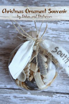 beach themed  Christmas this year t my house this year      Christmas Ornament Souvenir from dukesandduchesses.com