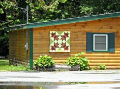 Barn Quilt in Cherokee, NC.