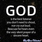 God is the Best Listener #quote #projectinspired #inspiration