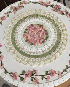 Best 12 12 inch Vintage Pink Roses Bouquet Floral Art Designer Mosaic Tile Set Tesserae Handmade Dinnerware Plates Dishes Flowered Mosaics – Page 419608890280105914 – SkillOfKing. Mosaic Tile Designs, Mosaic Tile Art, Mosaic Pots, Mosaic Artwork, Mosaic Diy, Mosaic Garden, Mosaic Crafts, Mosaic Projects, Mosaic Patterns