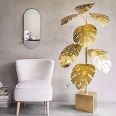 Our statement sixties-inspired Monstera Lamp is at the top of our this week 😍 Eclectic Furniture, Unique Furniture, Mad About The House, Cocktail Chair, Brass Floor Lamp, Floor Lamps, Mirror With Shelf, Shabby Chic Decor, Cocktails