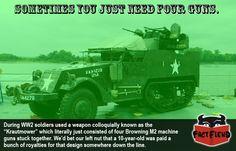 The Anti-Aircraft Gun Made From Four Other Guns, The M45 - http://www.factfiend.com/anti-aircraft-gun-made-four-guns-m45/